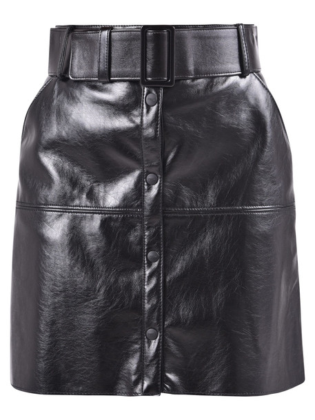 MSGM Shiny Skirt in black