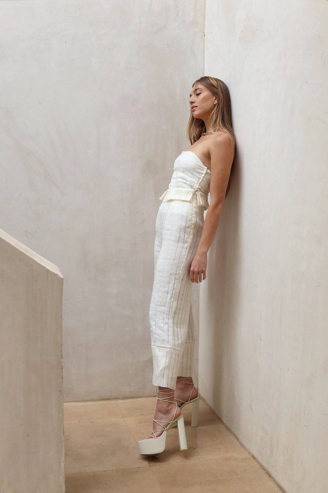 Cult Gaia Elle Pant - Off White                                                                                               $318.00