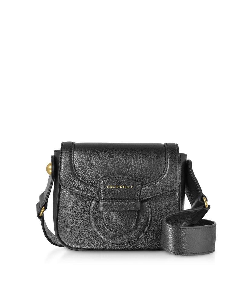Coccinelle Vega Small Leather Shoulder Bag in black