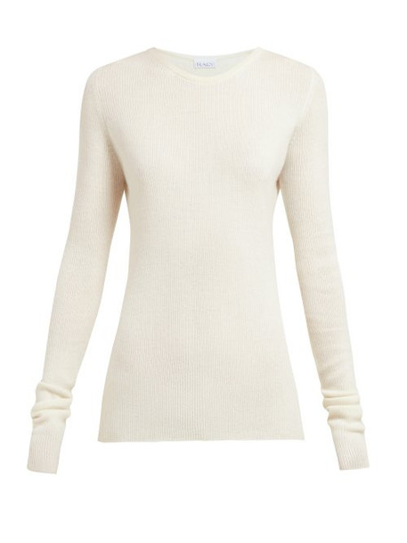 Raey - Crew Neck Fine Rib Cashmere Sweater - Womens - Ivory
