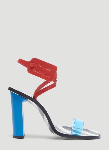 Off-White Zip Tie Capri Sandals in Blue size EU - 36