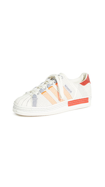 adidas x Craig Green CG Superstar Sneakers in grey / red / white