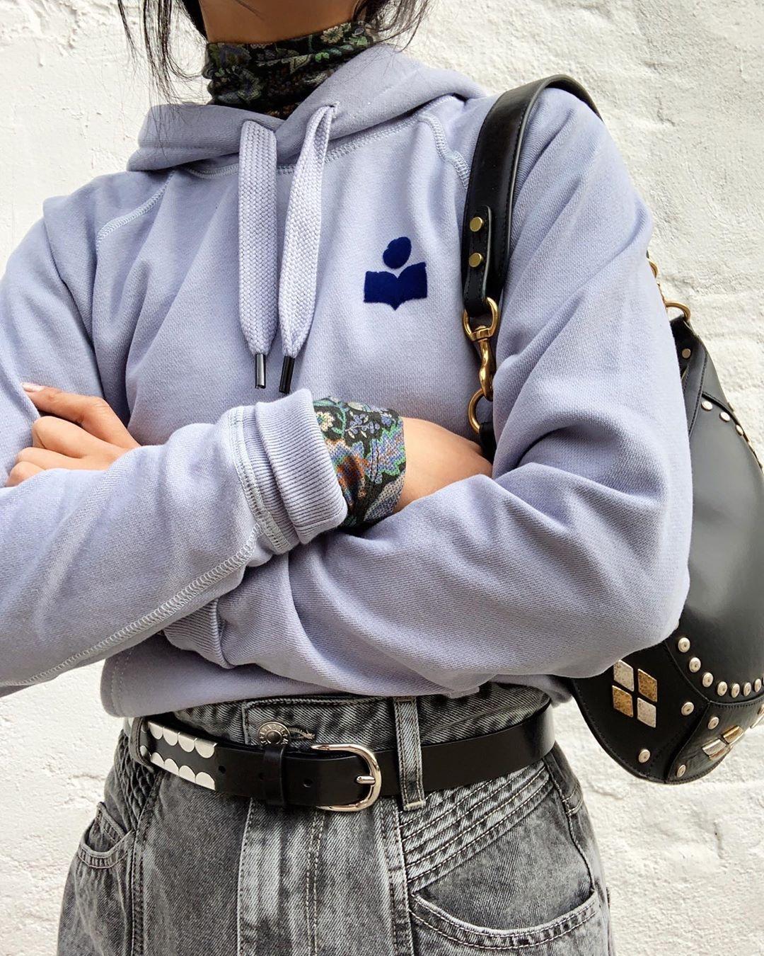 bag belt pants top sweater