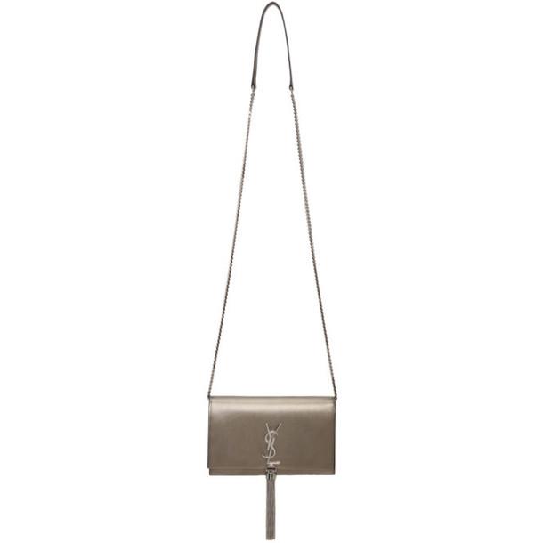 Saint Laurent Silver Kate Tassel Bag