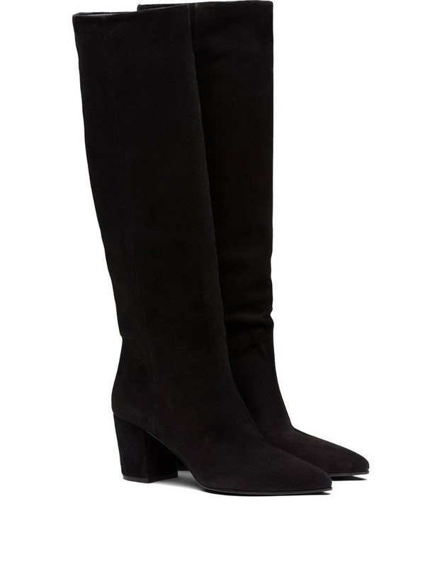 Prada calf-length slip-on boots in black