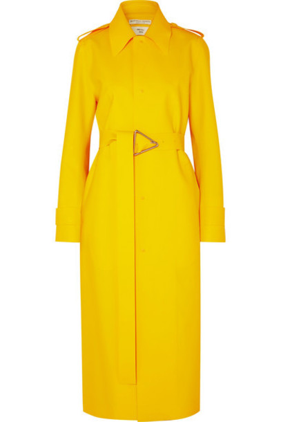 Bottega Veneta - Pu Trench Coat - Yellow