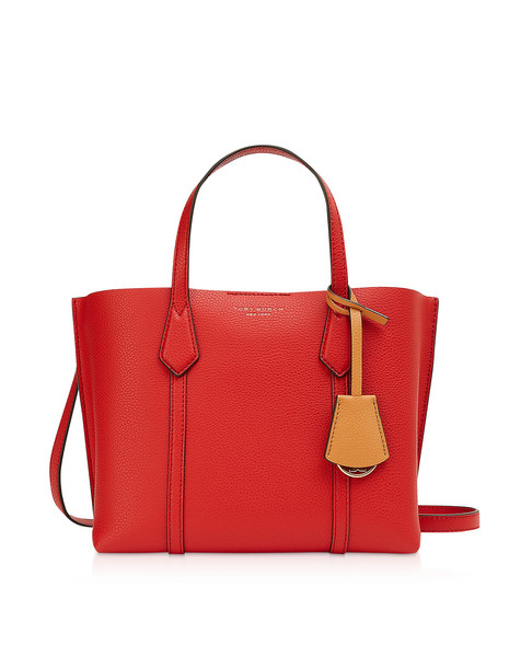 Tory Burch Brilliant Red Perry Small Triple-compartment Tote