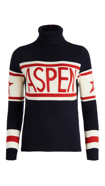Perfect Moment Aspen Sweater in navy