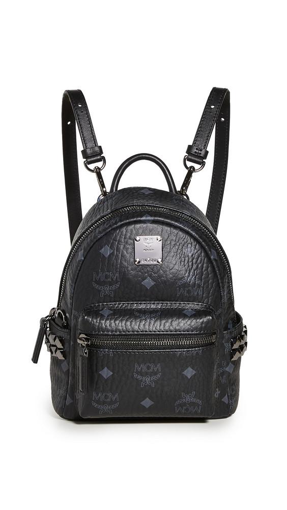 MCM Side Stud Baby Stark Backpack in black