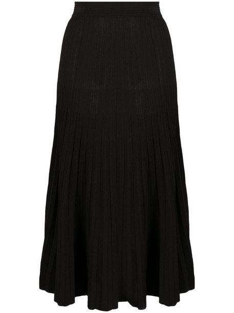 P.A.R.O.S.H. high-waisted pleated skirt in black