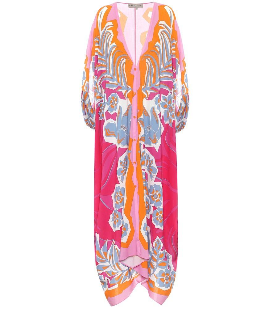 Emilio Pucci Beach Printed kaftan in pink