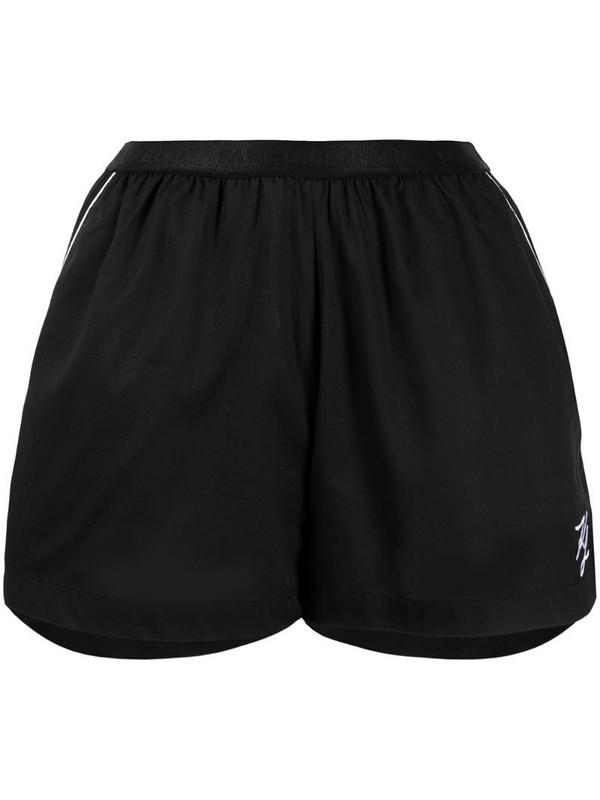 Karl Lagerfeld two-tone pyjama shorts in black