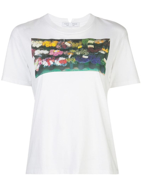 Proenza Schouler White Label printed short sleeve t-shirt in white