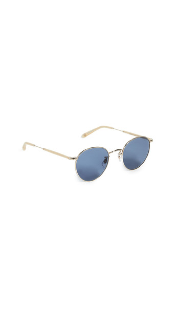 GARRETT LEIGHT Wilson M 49 Sunglasses in navy / gold
