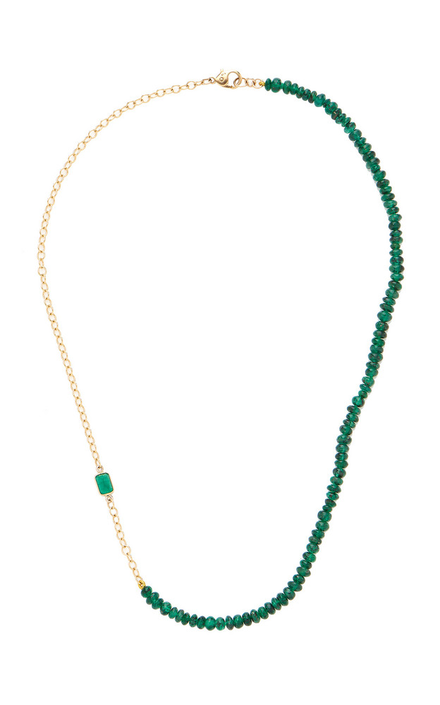 Objet-a Valery 18K Gold And Emerald Necklace in green