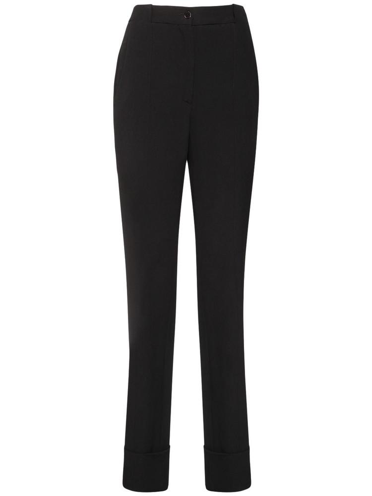 ROCHAS Satin Straight Pants in black