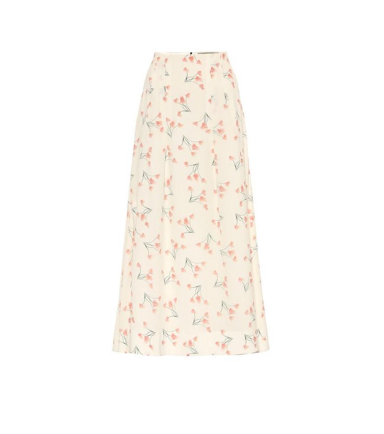 Roland Mouret Exclusive to Mytheresa – Badby floral seersucker midi skirt in white