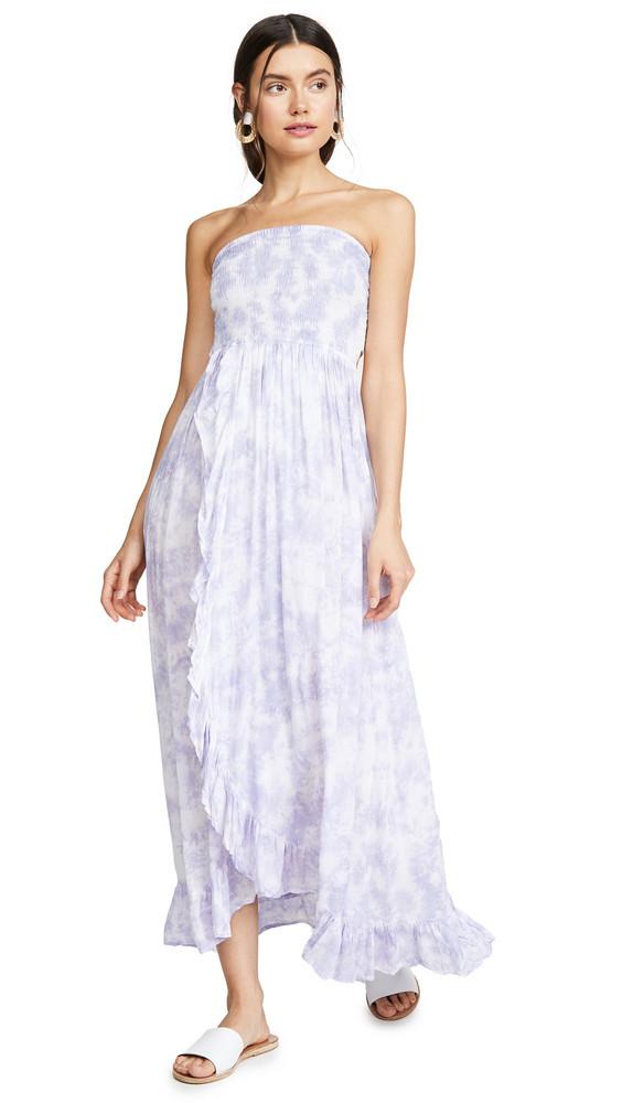 TIARE HAWAII Eri Long Dress in indigo / white