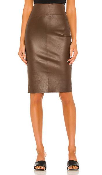 SPRWMN X REVOLVE Pencil Skirt in Brown in chocolate