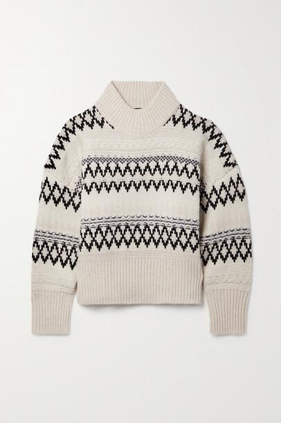rag & bone - Willow Fair Isle Wool Sweater - Ecru