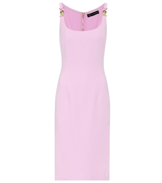 Versace Exclusive to Mytheresa – Stretch-crêpe midi dress in pink