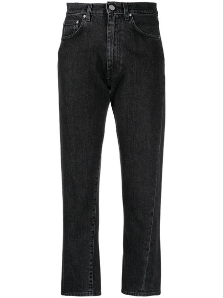Totême high-waisted cropped jeans in grey