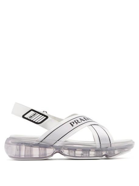 Prada - Bubble Sole Cross Strap Slingback Sandals - Womens - White