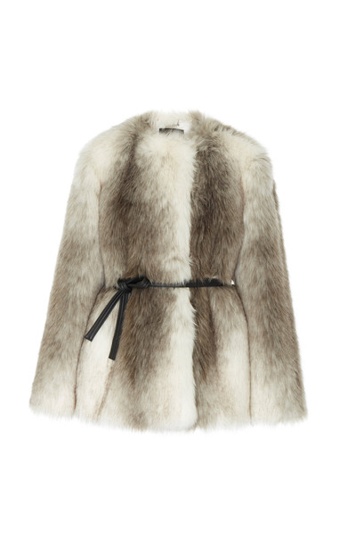 Givenchy Faux Fur Coat Size: 38