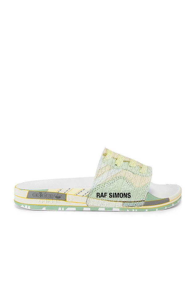 adidas by Raf Simons Peach Adilette Slide in white