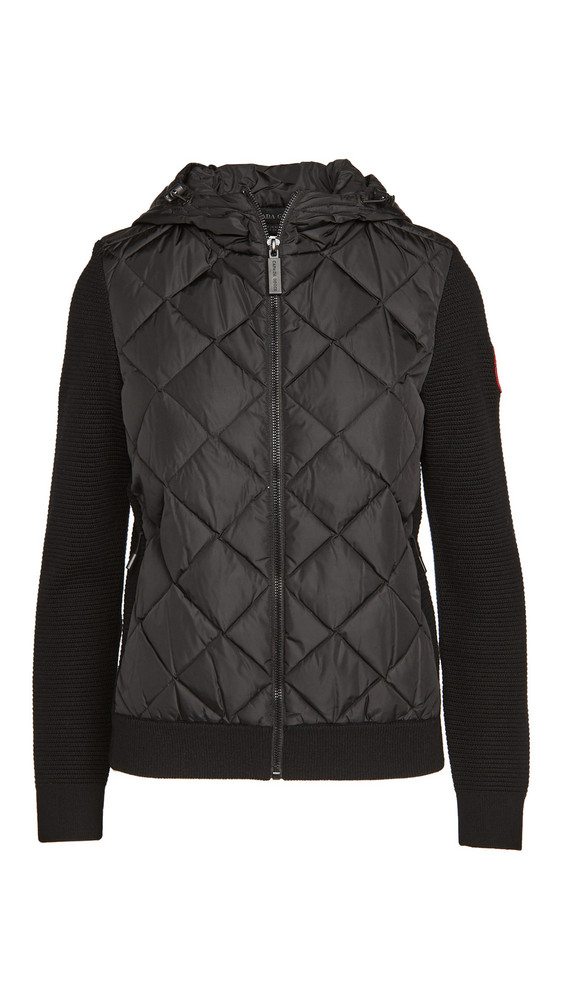 Canada Goose Hybridge Quilted Knit Hoodie in black