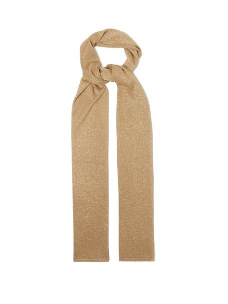 Joseph - Lurex-knit Scarf - Womens - Beige