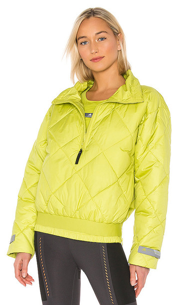 adidas by Stella McCartney Padded Pull On Jacket in Green