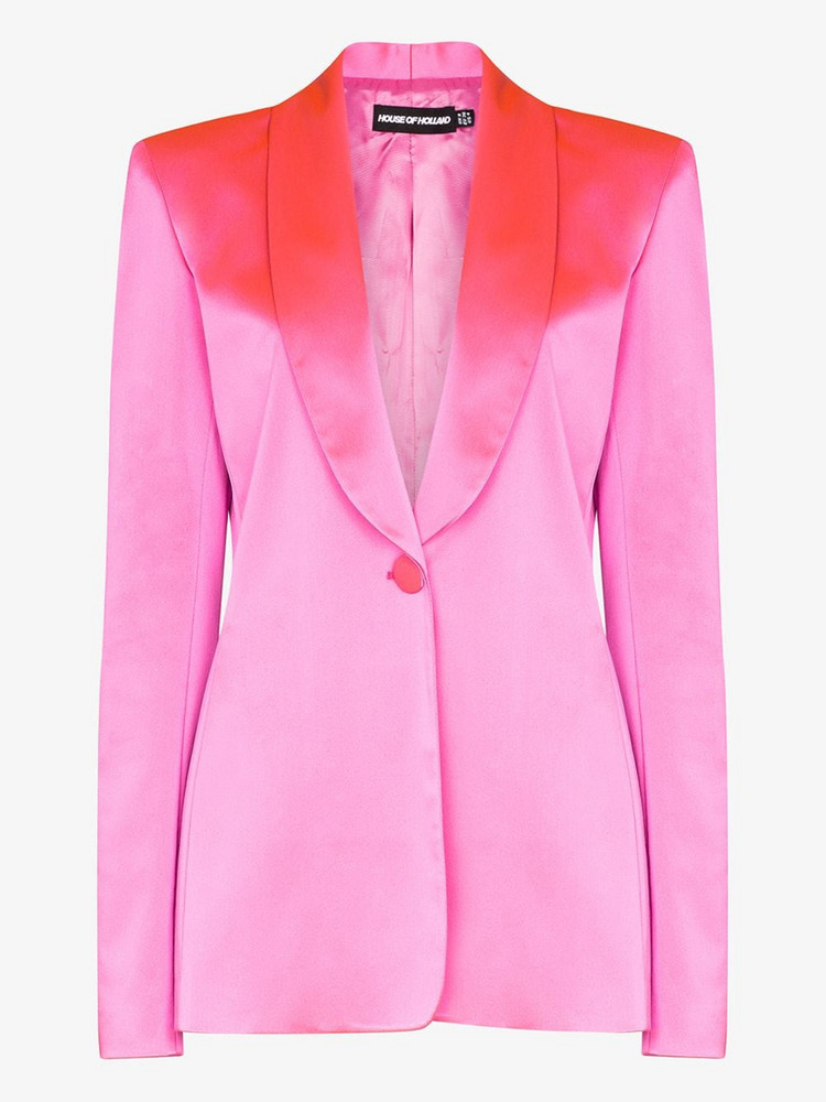 House of Holland tailored satin blazer in pink