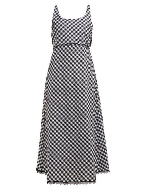 Thierry Colson - Vichy Tessa Sleeveless Open Back Midi Dress - Womens - Black Multi