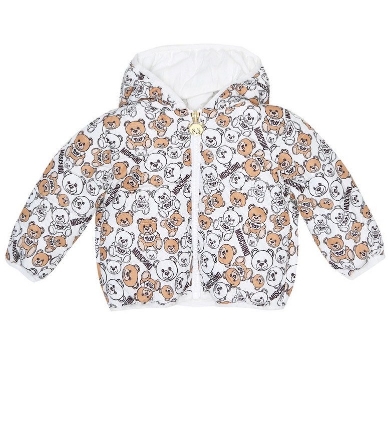 Moschino Kids Baby printed jacket in white