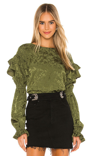 Tularosa Eloise Top in Olive in green