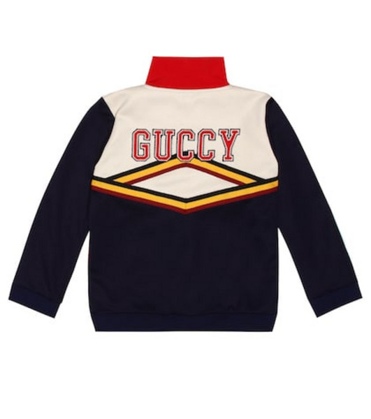 Gucci Kids Embroidered jersey track jacket