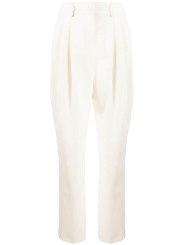 Alberta Ferretti high-waisted tailored trousers in neutrals