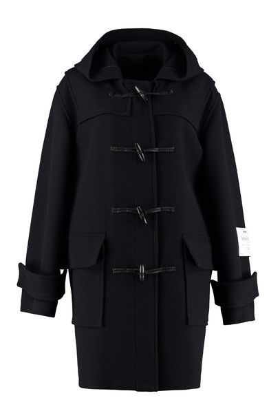 MSGM Virgin Wool Coat in blue