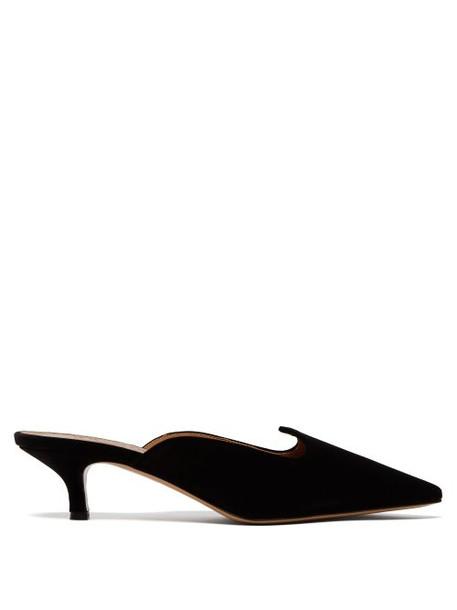 Le Monde Beryl - Venetian Velvet Mules - Womens - Black