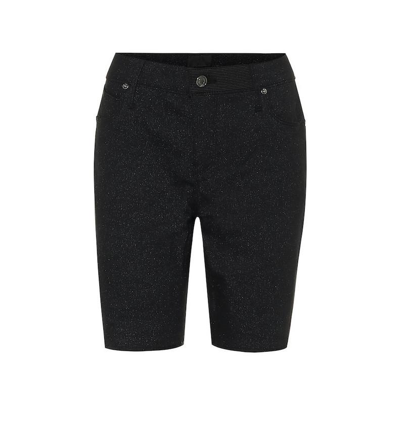 RtA Toure stretch-denim skinny shorts in black