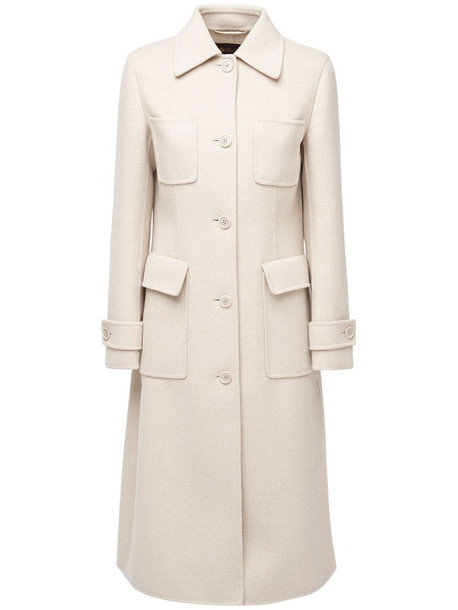 LORO PIANA Baby Cashmere Belted Coat in ivory