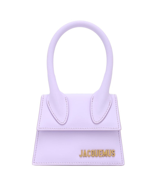 Jacquemus Le Chiquito leather tote in purple