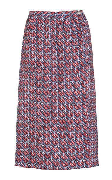 Giuliva Heritage Collection Isabella Printed Silk Skirt in print