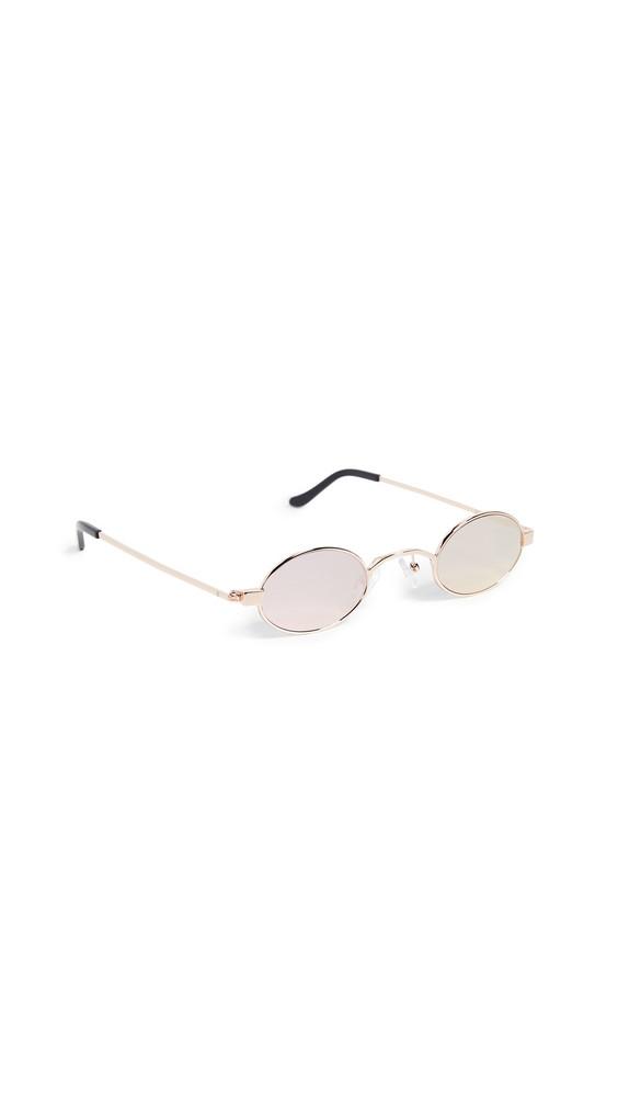 Roberi & Fraud Doris Sunglasses in gold / pink