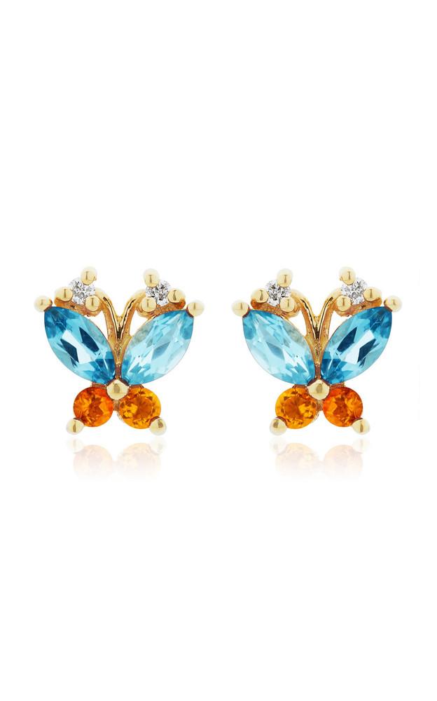 Joie DiGiovanni Butterfly Topaz, Citrine And Diamond 14K Gold Earrings in multi