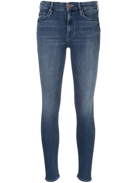 Mother The Looker skinny jeans in blue