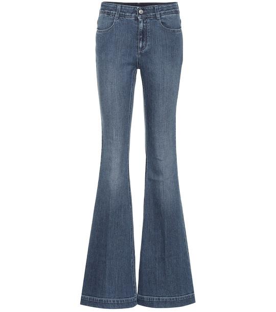 Stella McCartney High-rise bootcut jeans in blue