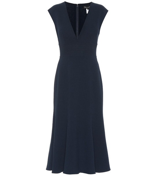 Oscar de la Renta Stretch wool-crêpe dress in black