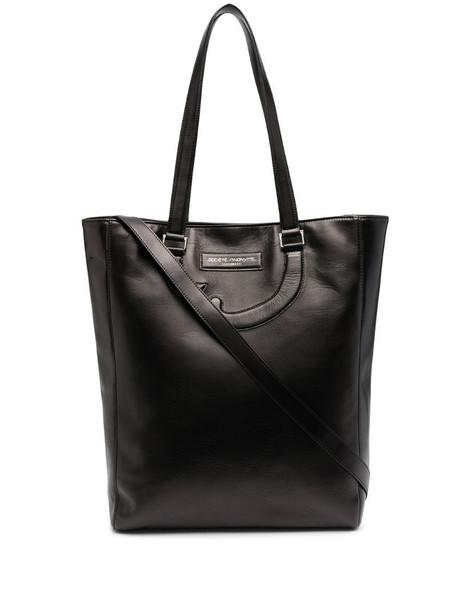 Société Anonyme leather appliqué detail tote bag in black